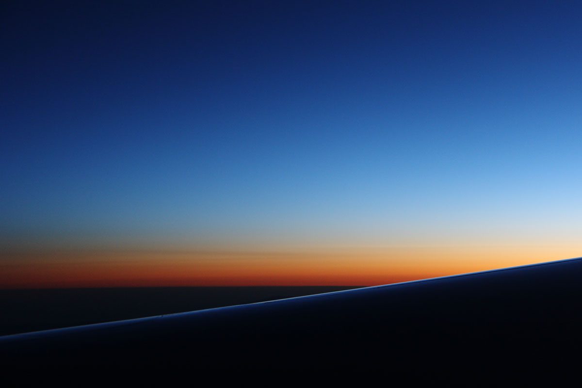 sunrise from airplane #5